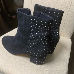 Shoes - Leather suede ankle boots